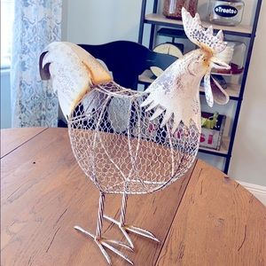 Metal farmhouse rooster